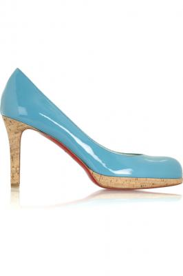 Christian Louboutin Blue New Simple Pumps 90